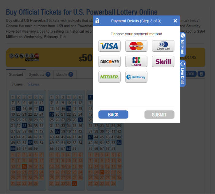 cara beli tiket Lottery Online